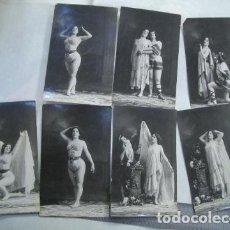 Fotografía antigua: CONJUNTO DE FOTOS ANTIGUAS DE ARTISTA DE VARIEDADES. Lote 70545229