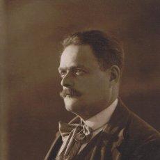 Fotografía antigua: FTO. RETRATO DE CABALLERO A CONTRALUZ. CA. 1915-1920. FOT.: MASANAS. BARCELONA.. Lote 71670663