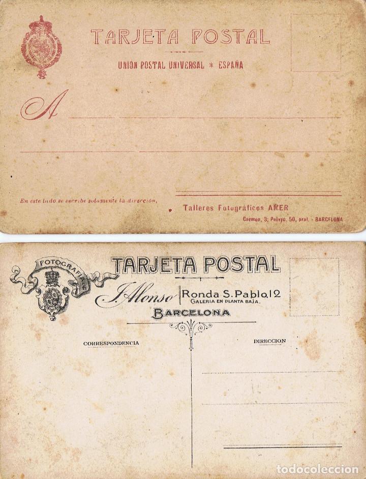Fotografía antigua: RETRATOS DEL MISMO JOVEN POSANDO Y VESTIDO DE TORERO. CA.1915. FOT. AMER Y ALONSO. BARCELONA. - Foto 4 - 71673739