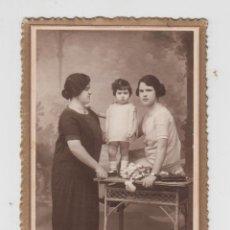 Fotografía antigua: ANTIGUA FOTOGRAFÍA, TARJETA POSTAL MARSAL DENIA, FAMILIAR, MUJER, CHICA Y NIÑA. Lote 71677079