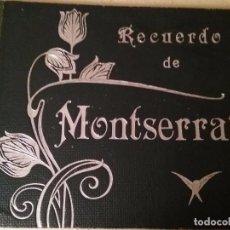 Fotografía antigua: ALBUM RECUERDO DE MONSERRAT. FOTOGRAFO J.E. PUIG. BARCELONA.. Lote 73491107