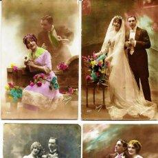 Fotografía antigua: FOTOGRAFÍAS (4) DE *POSTALES ROMÁNTICAS DE PRINCIPIO DEL SIGLO XX*. SERIADAS.. Lote 73634519