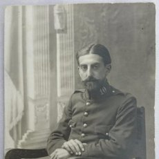 Fotografía antigua: FOTO POSTAL MILITAR ÉPOCA ALFONSO XIII. FOTOGRÁFO CALATAYUD CEUTA. Lote 73691835