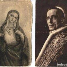 Fotografía antigua: ANTIGUAS TARJETAS *RELIGIOSAS* -BENEDICTUS XV Y ESTAMPA VIRGEN-. Lote 73855923