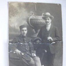 Fotografía antigua: FOTO ESTUDIO MILITAR REGTO. INFANTERIA MELILLA Nº 59. DE TRUCHAUD Y CANO, MELILLA . 1914.. Lote 74123239