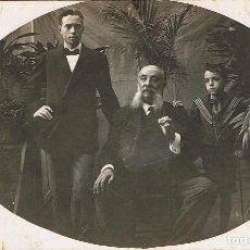 Fotografía antigua: FTO. RETRATO DE EUSEBIO GÜELL CON SU HIJO EUSEBI Y SU SOBRINO. CA.ANTES 1914. LUGAR: LA HABANA.. Lote 74526795
