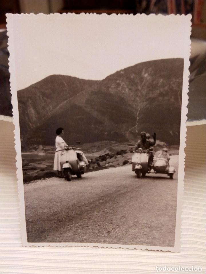 Fotografia Antigua Foto Vespa Sidecar Anos Comprar Fotografias
