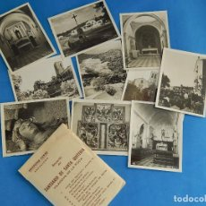 Fotografía antigua: SOBRE CON FOTOGRAFÍAS O PEQUEÑAS POSTALES. SANTUARIO SANTA QUITERIA. VILANOVA DE LA ROCA. BARCELONA. Lote 74687203