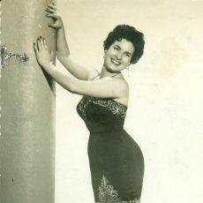 Fotografía antigua: VOCALISTA ARTISTA CARMENCITA ROIG. ZARAGOZA FOTO ANTONIO. HACIA 1960.. Lote 75496967