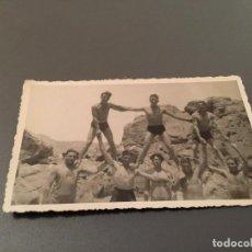 Fotografía antigua: ANTIGUA FOTO - TARJETA POSTAL DE GRUPO DE JÓVENES . Lote 75850675
