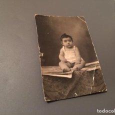 Fotografía antigua: ANTIGUA FOTO - TARJETA POSTAL DE BEBÉ . Lote 75852195