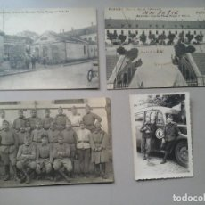 Fotografía antigua: 3 TARJETAS POSTALES Y UNA FOTOGRAFÍA DE MILITARES FRANCESES AÑOS 20 EN AUXONNE. MILITARIA. RARO.. Lote 75888895