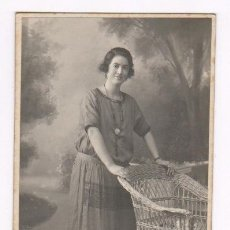 Fotografía antigua: RETRATO FEMENINO FOTO DARBLADE, TORREVIEJA, ALICANTE. 1915'S. Lote 76174171