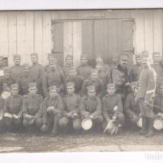 Fotografía antigua: MELILLA, GRUPO DE MILITARES, 1915 APROX. VER REVERSO CON TEXTO. Lote 76226351