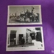 Fotografía antigua: LOTE DE 2 POSTALES ANTIGUAS DE TETUAN 1957. Lote 77370065