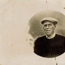 Fotografía antigua: FTO. RETRATO EN ÓVALO DE OBRERO . CA.1900-1905. LA FOTOGRÁFICA VALENCIANA.FCO.VICENTE. VALENCIA.. Lote 79613917