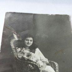 Fotografía antigua: FOTO TARJETA POSTAL DEDICADA CARMENCITA OLCINA, ALCOY. FOTÓGRAFO MATARREDONA 1916. Lote 79906031