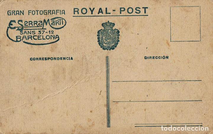 Fotografía antigua: FTO.RETRATO DE NIÑA VESTIDA DE TRAJE REGIONAL DE ARAGON. CA. 1915. FOT.: SERRA MARTÍ. BARCELONA. - Foto 2 - 79987417