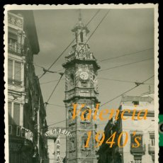 Fotografía antigua: VALENCIA - TORRE DE SANTA CATALINA - POSTAL FOTOGRÁFICA - 1940'S. Lote 80145705