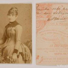 Photographie ancienne: POST CARD - CARTE POSTALE - TARJETA POSTAL RECORTADA - SEÑORA . Lote 80445541