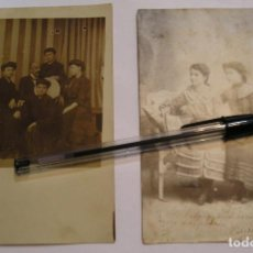 Fotografía antigua: ANTIGUA TARJETA POSTAL LOTE DE 2 POSTALES 1900 - 1920 (17). Lote 80782446