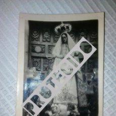 Fotografía antigua: ANTIGUA FOTOGRAFIA DE LA VIRGEN DEL PORTAL PATRONA DE RIVERO CANTABRIA. Lote 82983032
