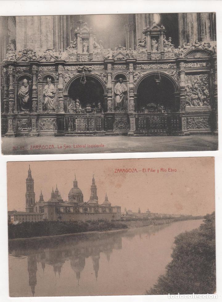 Fotografía antigua: Lote de 9 Tarjetas Postales fotográficas de Zaragoza. Ver fotografías - Foto 2 - 83912408