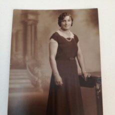 Fotografía antigua: FOTOGRAFÍA FOTO TARJETA POSTAL ANTIGUA DE MUJER DEL AÑO 1931. Lote 84739763