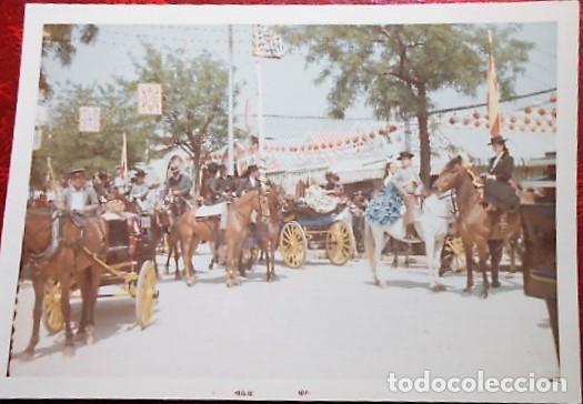 FOTOGRAFIA FERIA DE ABRIL SEVILLA 1967 COLOR (Fotografía Antigua - Tarjeta Postal)