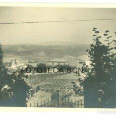 Fotografía antigua: FOTO ORIGINAL CENTELLES CENTELLAS CATALUNYA CATALUÑA AÑO 1946 - 11X8 CM. Lote 86279048