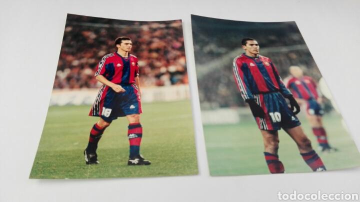 6 FOTOS ORIGINALES DE JUGADORES DEL BARCELONA (Fotografía Antigua - Tarjeta Postal)