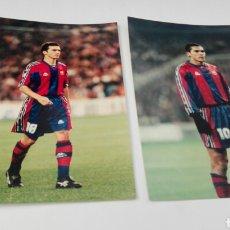 Fotografía antigua: 6 FOTOS ORIGINALES DE JUGADORES DEL BARCELONA. Lote 86548272