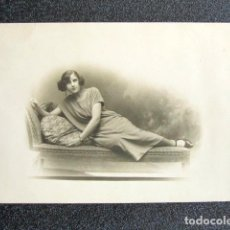 Fotografía antigua: ANTIGUA FOTOGRAFÍA MADRID, AÑO 1923. REVERSO TARJETA POSTAL. . Lote 87405072