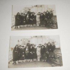 Fotografía antigua: POSTALES. MILITARES EN BARCO DE LA ARMADA, PROBABLEMENTE EN CARTAGENA. CASAÚ, CIRCA 1920. Lote 87555520