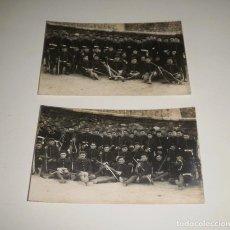 Fotografía antigua: POSTALES. REGIMIENTO DE INFANTERÍA EN UN TRAMO MURALLA CARTAGENA. CIRCA 1920, SIN CIRCULAR, CASAÚ. Lote 87555612