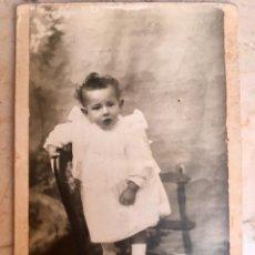 Fotografía antigua: FOTO RETRATO ALBUMINA POSTAL NIÑA SOBRE SILLA S. 19 UNION POSTAL UNIVERSAL DIVIDIDA SIN CIRCULAR . Lote 88358788