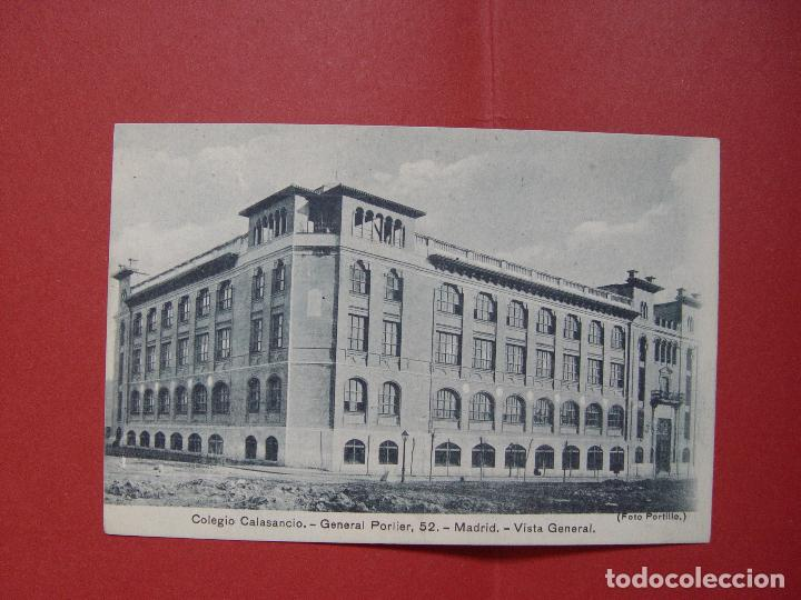 TARJETA POSTAL (1930'S) MADRID. COLEGIO CALASANCIO (PORTILLO) ¡SIN CIRCULAR! ¡ORIGINAL! (Fotografía Antigua - Tarjeta Postal)