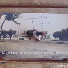 Fotografía antigua: FOTO FOTOGRAFIA TARJETA POSTAL MELILLA CENTRO ELECTROTECNICO MELILLA MARCADA POR MILITAR 1931. Lote 91405230
