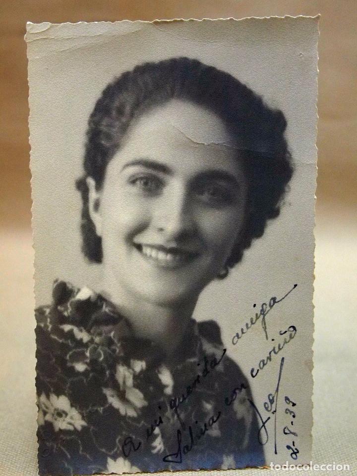 FOTOGRAFIA ANTIGUA, TARJETA POSTAL, RETRATO DE MUJER, 1939 (Fotografía Antigua - Tarjeta Postal)