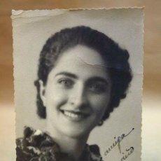 Fotografía antigua: FOTOGRAFIA ANTIGUA, TARJETA POSTAL, RETRATO DE MUJER, 1939. Lote 91638990