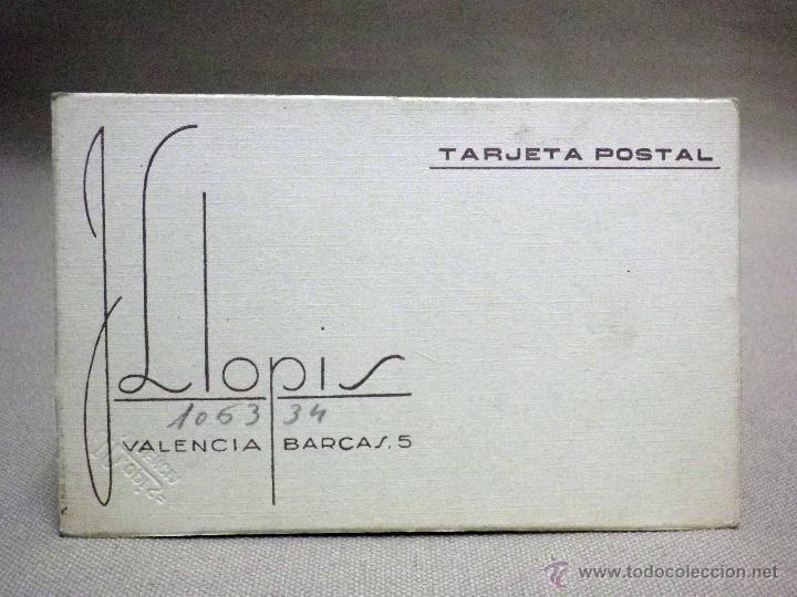 Fotografía antigua: FOTOGRAFIA ANTIGUA, TARJETA POSTAL, SEÑORITA, ESTUDIO, J. LLOPIS, VALENCIA, 1930s - Foto 2 - 91641395