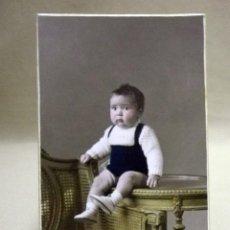 Fotografía antigua: FOTOGRAFIA ANTIGUA, TARJETA POSTAL, NIÑO, ALBUMINA, 1930S. Lote 91641615
