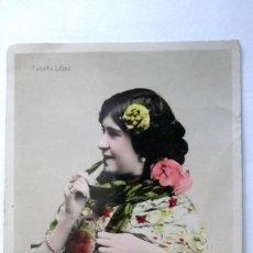 Alte Fotografie - ANTIGUA FOTOGRAFIA, CUPLETISTA PAQUITA LOPEZ, AÑO 1906 - 91859665