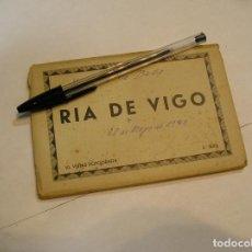 Fotografía antigua: POSTAL POSTALES RIA DE VIGO BLOC DE 10 POSTALES AÑOS 40 FOTOS HOJA A HOJA (17). Lote 92295550