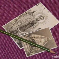 Fotografía antigua: LOTE DE 2 ANTIGUAS POSTALES SIN CIRCULAR DE NUESTRA SEÑORA DEL CARMEN - GRAZALEMA - VINTAGE. Lote 94183460