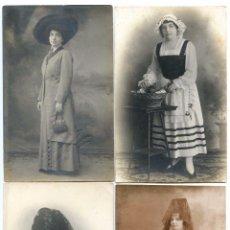Fotografía antigua: CUATRO RETRATOS DE ESTUDIO, J.A. SOBERÓN, Y J. GISPERT, HABANA CUBA EMIGRANTE. Lote 94459786