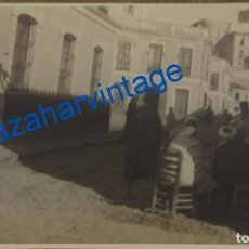 Fotografía antigua: ANTIGUA POSTAL FOTOGRAFICA DEL BARRIO DEL MANTELETE DE MELILLA, MAGNIFICA. Lote 94594531