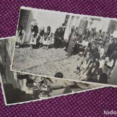 Fotografía antigua: LOTE DE 2 ANTIGUAS POSTALES SIN CIRCULAR - DESFILES PROCESIONALES - GRAZALEMA - VINTAGE - HAZ OFERTA. Lote 94688359