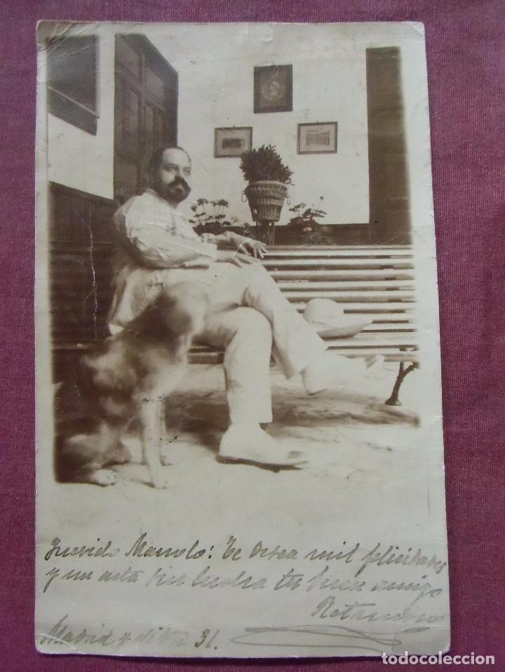 TARJETA POSTAL CIRCULADA 31/12/1902.DIRIGIDA AL POLÍTICO LIBERAL VALENCIANO D.MANUEL YRANZO BENEDITO (Fotografía Antigua - Tarjeta Postal)