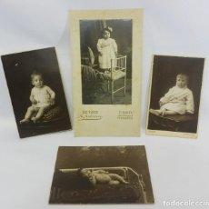 Fotografía antigua: CUATRO FOTOGRAFÍAS AÑOS 1900 DE NIÑOS BARCELONA Y FIGUERES. Lote 96036487